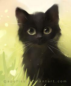 Baby Spooky Art! Que lindos olhos, que lindos olhos tem você! Desenho de gato (a).