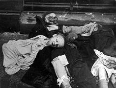 Hungary, A body of a Jewish child among the victims of the Arrow Cross Party.