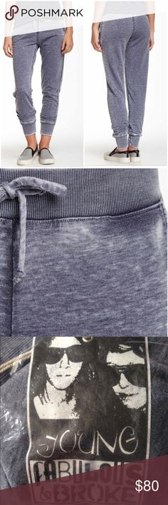 Brand New YFB Khan Joggers Brand new blue jogger pants by Young, Fabulous & Broke. So cute and comfyelasticized waistband and drawstring. 2 front slant pockets. Elasticized cuffs. No trades. Young Fabulous & Broke Pants Track Pants & Joggers