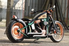 New Custombike for #Jever Beer. Original #Thunderbike #Harley-Davidson Softail with a lot of copper & wood.