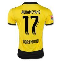 Borussia Dortmund 2015-2016 Season AUBAMEYANG #17 Home Soccer Jersey