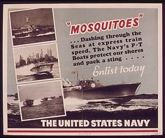 WW2 US Navy recruiting poster featuring PT boats - BFD