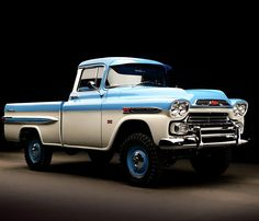 "goodgrlgonebad: ""utwo: "" 59′ Chevy 3100 deluxe pickup © autogaleria "" Truck porn!!!  "" HRP"