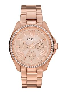 Montre pour femme : Fossil Watch Womens Cecile Rose Gold-Tone Stainless Steel Bracelet All Fossil Watches Jewelry & Watches Macys