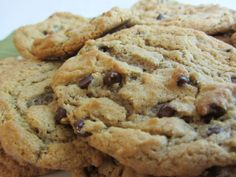 """Gluten Free/Wheat Free/Dairy Free/Egg Free/Soy Free Chocolate Chip Cookies Ingredients cup soy free/dairy free Earth Balance """"buttery spread"""" 1 cup of brown sugar cup white sugar 1 Tablespo… Chocolate Chip Cookies Ingredients, Gluten Free Chocolate Chip Cookies, Gluten Free Cookies, Gluten Free Desserts, Vegan Desserts, Paleo Cookies, Wheat Free Recipes, Allergy Free Recipes, Paleo Recipes"""