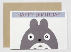 Totoro Card by CherryOnTopDsgns on Etsy