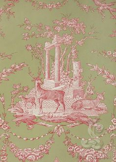 Christmas toile perfect for the table linen