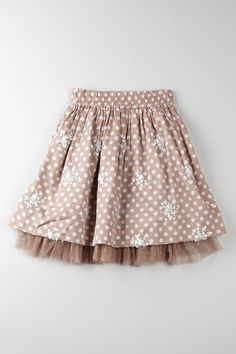 Cupcakes & Pastries Coffee Sequin And Mesh Detail Skirt