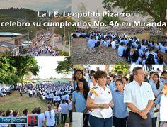 La Institución Educativa Leopoldo Pizarro González, celebró su aniversario número 46 de su fundación, junto a docentes, directivos, estudiantes, egresados, la administración municipal y la comunidad en general, del municipio de Miranda, en el norte del departamento del Cauca.[http://www.proclamadelcauca.com/2014/08/la-i-e-leopoldo-pizarro-celebro-su-cumpleanos-no-46-en-miranda.html]