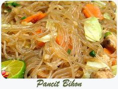 """Try this local and delicious Pancit Recipe - """"Bihon"""" - Check out more Hawaiian Food and local style recipes here. Filipino Recipes, Asian Recipes, Ethnic Recipes, Filipino Food, Filipino Dishes, Falafel, Hawaiian Dishes, Hawaiian Recipes, Pancit Bihon Recipe"""