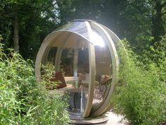 rotating glass garden pod