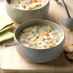 Chunky Creamy Chicken Soup Slow Cooker Huhn, Slow Cooker Soup, Slow Cooker Chicken, Slow Cooker Recipes, Cooking Recipes, Crockpot Recipes, Chilli Recipes, Easy Recipes, Salad Recipes
