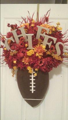 Kansas City Chiefs Door Wreath