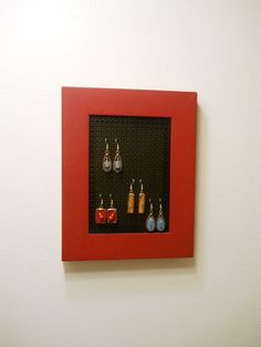 Picture Frame Earring Holder 5 X 7 by StewArtStuff on Etsy, $17.95