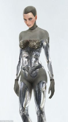 Today, the idea of a part-man, part-robot doesnt seem so extraordinary after all. For example, robotic arms controlled by thought are now being developed in Britain Cyborg Girl, Female Cyborg, Cyberpunk Character, Cyberpunk Art, 3d Character, Character Concept, Robot Tattoo, Arte Steampunk, Humanoid Robot
