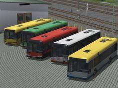 """Niederflur-Stadtbusse """"Solaris Urbino 12"""" in 5 Farbvarianten"""