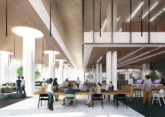 Mecanoo Wins Competition to Design Tainan Public Library,Fourth Level Reading Space. Image © Mecanoo architecten