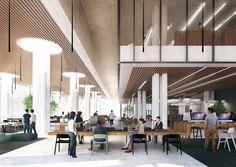 Mecanoo Wins Competition to Design Tainan Public Library,Fourth Level Reading Space. Image © Mecanoo architecten