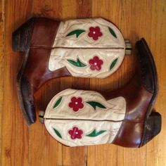 1940s inlay PeeWee Cowboy Boots shorty by unionmercantilewoman