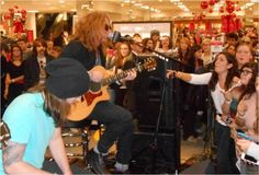 We The Kings at #mstylelab event at Macy's in the West Farms Mall, CT