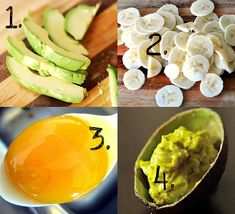 avocado + banana face mask!! | Learn about easy #homemade #face #masks http://easyhomemadefacemasks.blogspot.com/2012/12/easy-homemade-face-masks-which-actually.html