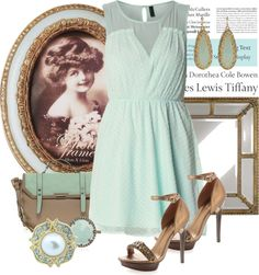 """""""Bronze/blue"""" by kloeyblue ❤ liked on Polyvore"""