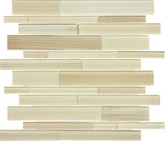 Random Glass Mosaic Tile Linear Sabbia. Good for the kitchen backsplash, bathroom, and shower.
