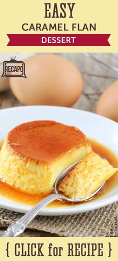 From ABC's General Hospital, Tyler Christopher and Jason Thompson joined The Chew's Carla Hall to make an easy dessert with this Blender Flan Recipe.