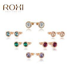 Barato 8.25 Recente Popular Exquisite AAA Zircon pedras ROXI Rosa banhado a ouro…