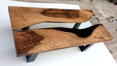 Coffee Table Dimensions, Epoxy Resin Table, Walnut Coffee Table, Clear Resin, Table Legs, Custom Items, Wooden Boxes, Christmas Gifts, Awesome