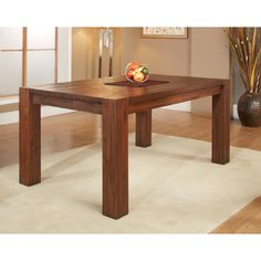 Modus Meadow Solid Wood Extending Dining Table Brick Brown 3f4161
