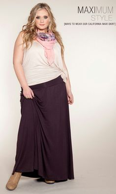 California Maxi Skirt READ MORE Price:$49.90 (USD)A flowing and soft jersey-knit maxi skirt with foldover waistband and floor-skimming length. Can be worn as a dress as well. Model is 5'10 and wearing medium heels.