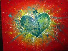 abstract heart tutorial - The Art Colony