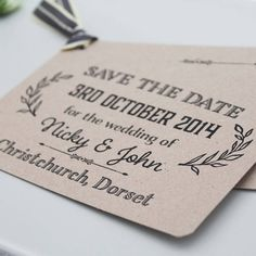 gatsby wedding save the date card by lou brown designs | notonthehighstreet.com