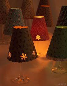 Frelikat: Vorlage: Weinglas-Lampenschirm