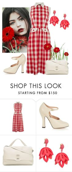 """Untitled #4392"" by empathetic ❤ liked on Polyvore featuring Lowie, Gucci, Zanellato and Oscar de la Renta"
