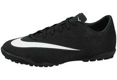 Nike Kids Mercurial CR7 Victory V Turf Soccer Shoes - Black and Turquoise...grab yours at SoccerPro.com today!
