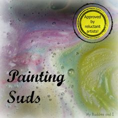 Painting Suds - Kids who aren't all that interested in other art activities are likely to find this activity fun! Craft Projects For Kids, Crafts For Kids, Craft Ideas, Infant Activities, Activities For Kids, Children Play, My Buddy, Process Art, Outdoor Art