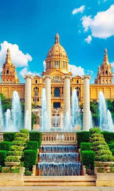 The beautiful National Museum in Barcelona, Spain