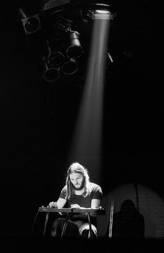 David Gilmour performs on stage at Ahoy in Rotterdam, Netherlands, 1977