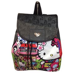 tokidoki x Hello kitty Kimono Holiday Backpack ❤ liked on Polyvore featuring bags, backpacks, knapsack bag, evening bags, hello kitty bag, backpack bags and hello kitty backpack