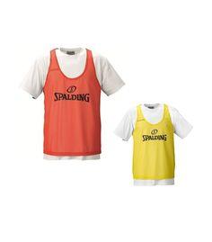 Peto Spalding con el logo de Spalding impreso. De alta calidad, perfecto para los entrenamientos. Disponibles en color naranja y amarillo www.basketspirit.com/Spalding-complementos