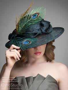Black dress hat 3 brim