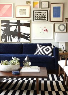 Navy and wood interiors are a classic combination that can appeal to all styles of home. From Federation to Modern, this colour palette is refined and provincial. The wood can be any type or shade as it contrasts well with navy. Add a hint of white and beige to create a cool interior that's both inviting and homely.  #decor #interiordesign #navy #wood #home #style