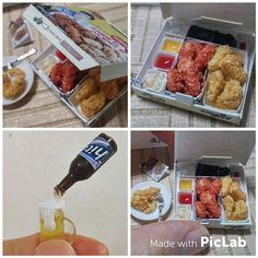 Miniaurefood  양념반 후라이드반에 맥주한잔 🍺🍗 스위트돌하우스 점토반 수업 다녀왔어용  #미니어쳐음식 #미니어쳐#점토#치킨#치맥#Miniature #miniaturefood #chiken #beer#fakefood#clayfood#food#啤酒#炸鸡#炸鸡啤酒