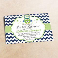 Owl Baby Shower Invitation Boy Baby Shower от LittlePartyPaper