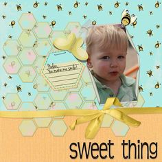 Sweet Thing Digital Scrapbooking Layout by Theresa Kavouras