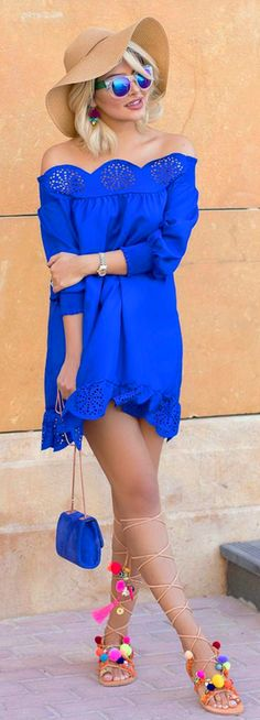Pom Poms // Summer Outfit Idea by @sheidafashionista