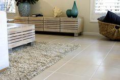 Living Rooms tile idea from Beaumont Tiles. Living Room White, New Living Room, Living Room Modern, Interior Design Living Room, Diy Storage Building, Beaumont Tiles, Living Room Flooring, Tile Floor, House Design