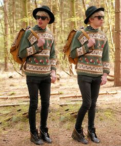 Fox and hat (by Charlieo Vandenbergio) http://lookbook.nu/look/3484691-fox-and-hat